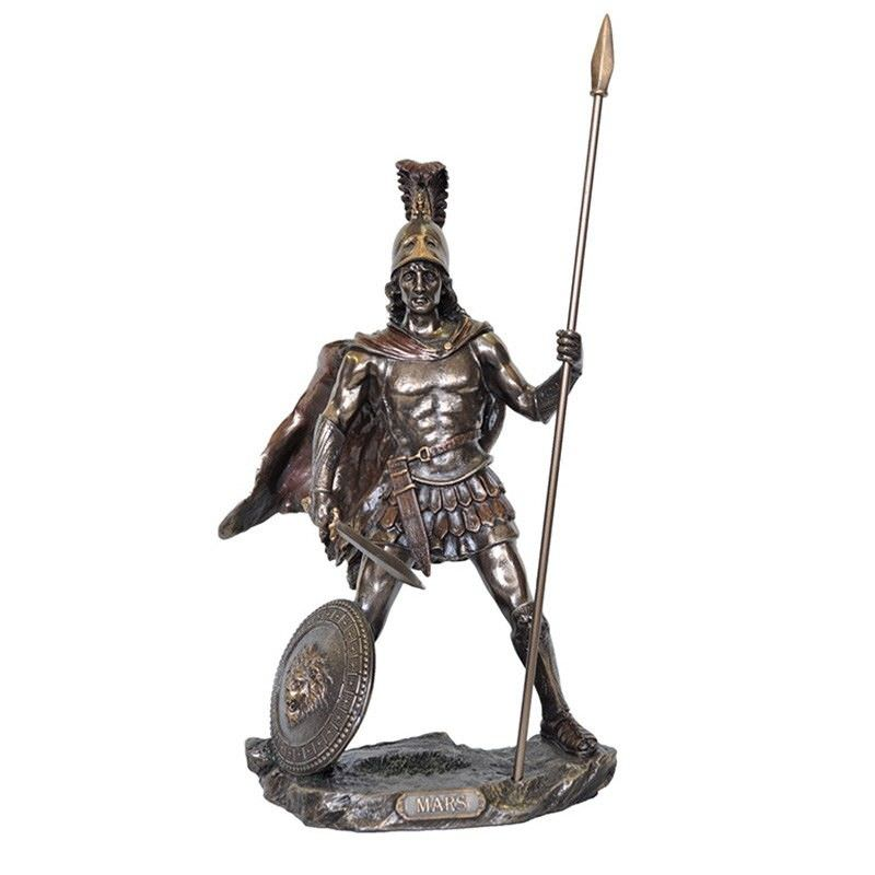 Veronese Cold Cast Bronze Coated Greek Mythology Figurine, Ares