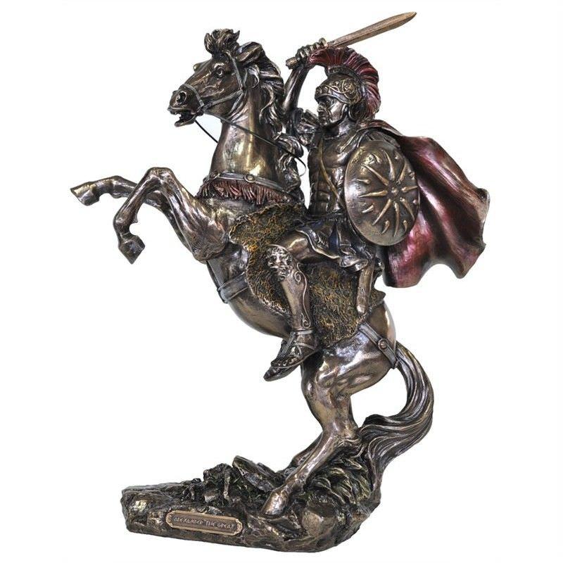 Veronese Cold Cast Bronze Coated Figurine, Alexander The Great
