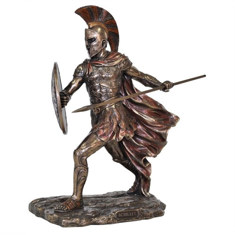 Veronese Cold Cast Bronze Coated Figurine, Achilles