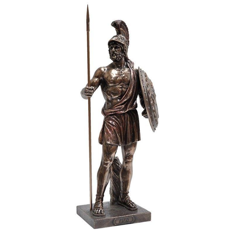 Veronese Cold Cast Bronze Coated Figurine, Ajax The Great