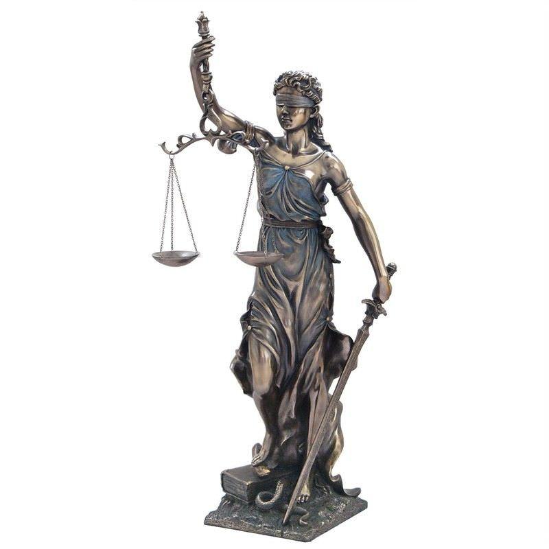 Cast Bronze Figurine of La Justicia, Large