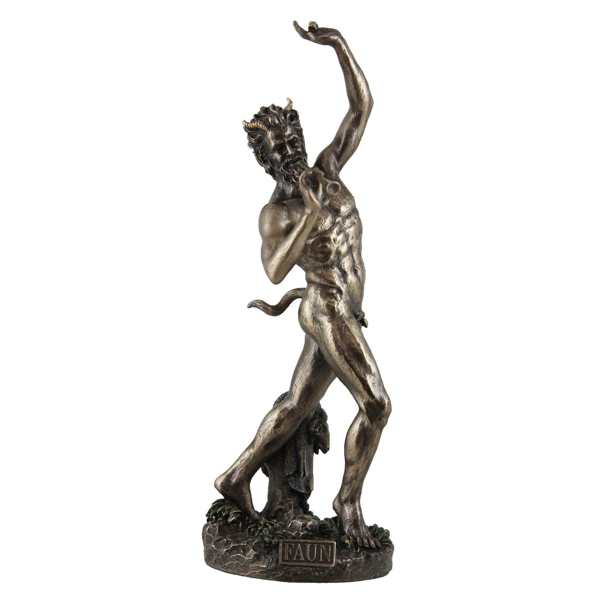 Veronese Cold Cast Bronze Coated Roman Mythology Figurine, Faun