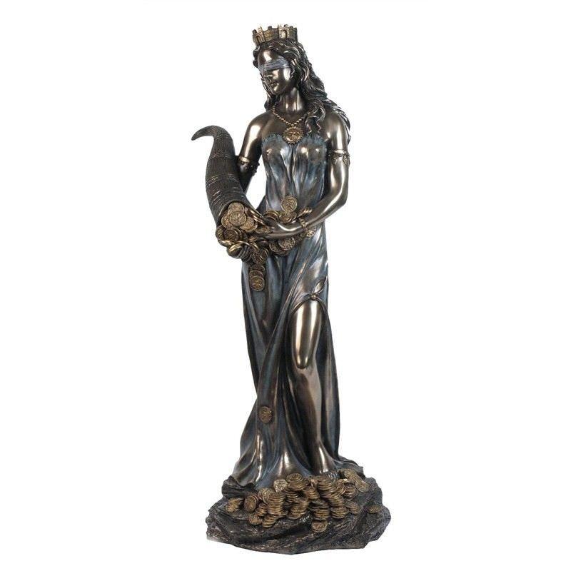 Cast Bronze Figurine of Fortuna, Large