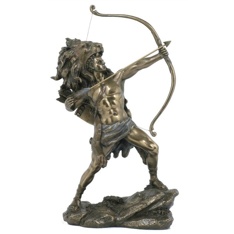 Veronese Cold Cast Bronze Coated Greek Mythology Figurine, Hercules