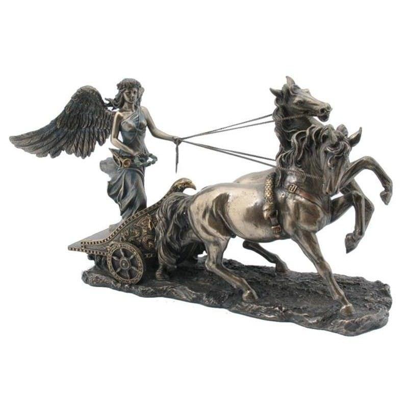 Cast Bronze Greek Mythology Figurine, Nike of Samothrace