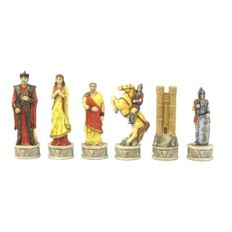 Troy Vs. Sparta Chess Piece Set with Case