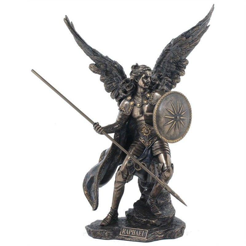Cast Bronze Angel Figurine, Raphael