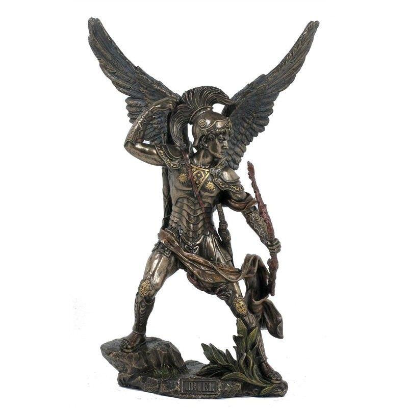 Cast Bronze Angel Figurine, Uriel