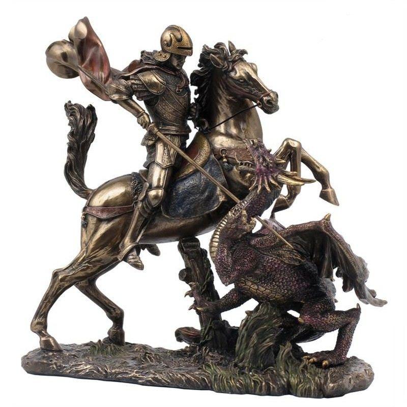 Figurine of Saint George Slaying the Dragon