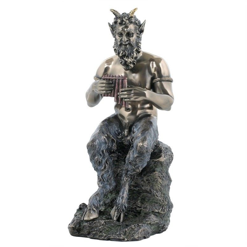 Cast Bronze Greek Mythology Figurine, Pan