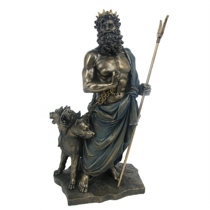 Veronese Cold Cast Bronze Coated Greek Mythology Figurine, Hades