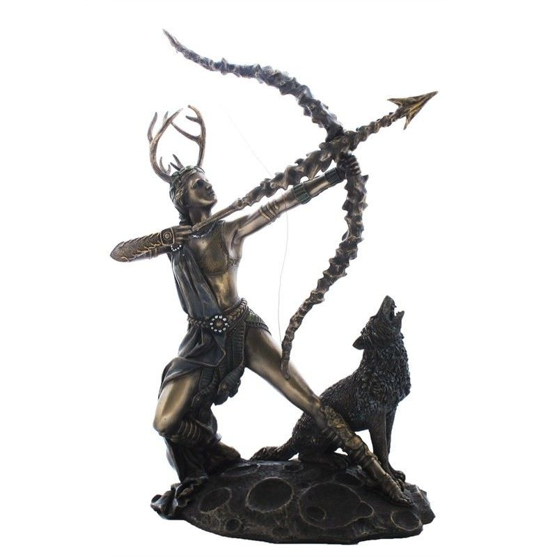 Cast Bronze Greek Mythology Figurine, Artemis