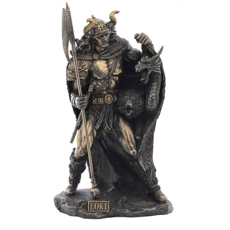 Cast Bronze Norse Mythology Figurine, Loki