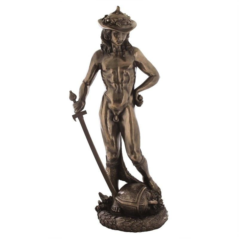 Large Cast Bronze Statue of David by Donatello