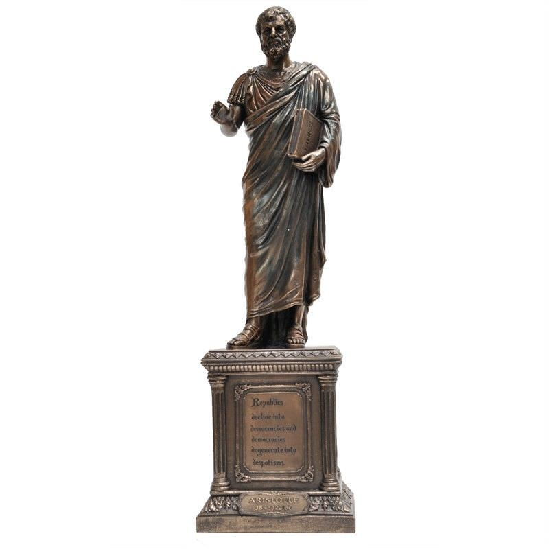 Cast Bronze Statue of Aristotle Philosopher