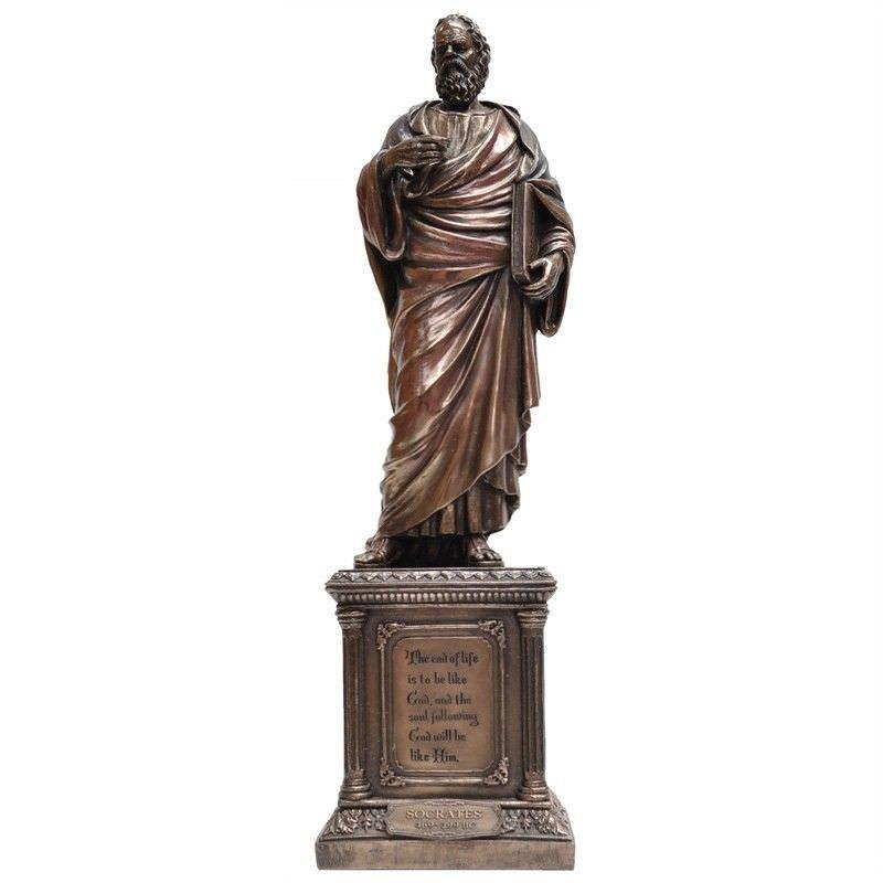 Cast Bronze Statue of Socrates Philosopher