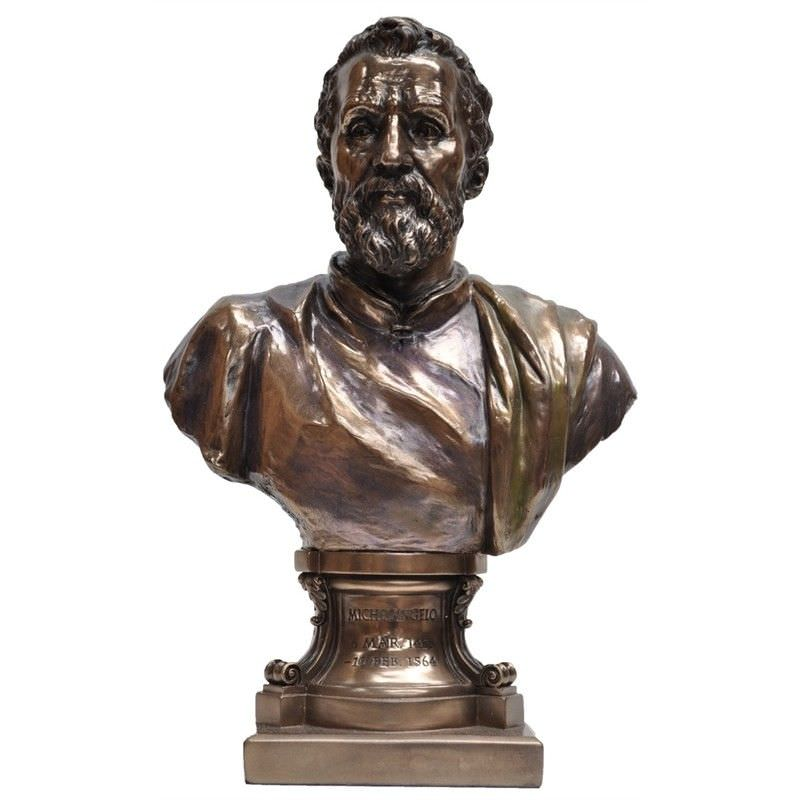 Cast Bronze Bust Sculpture, Michelangelo