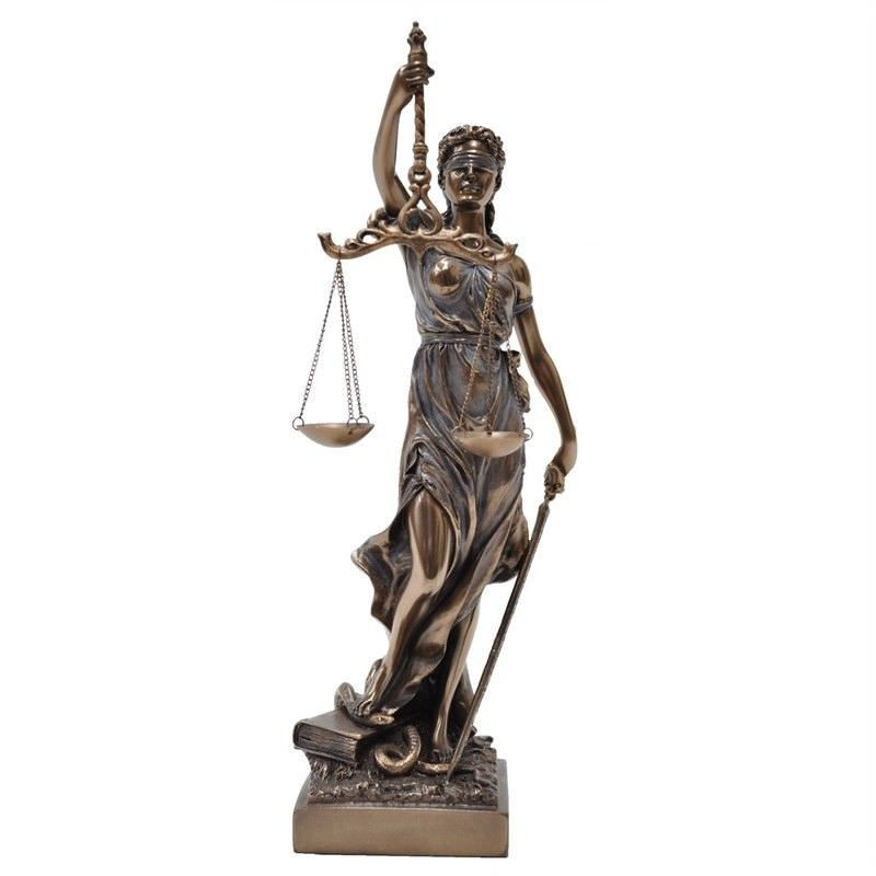 Cast Bronze Figurine of La Justicia, Small