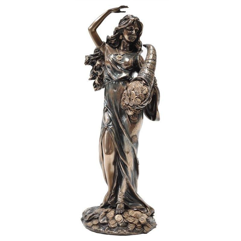 Veronese Cold Cast Bronze Coated Figurine, Fortuna, Small