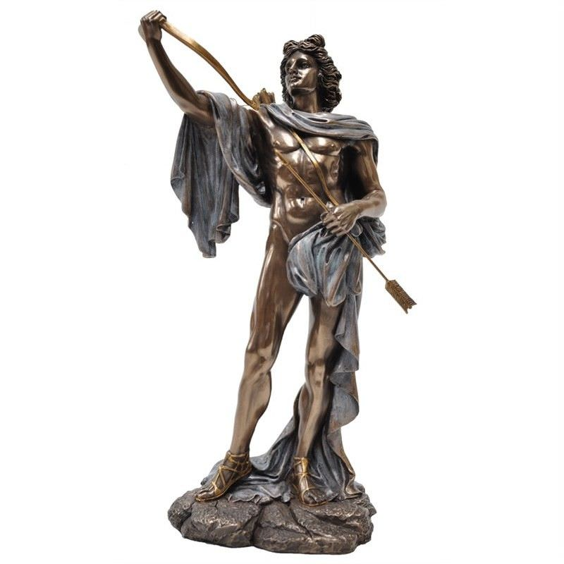 Cast Bronze Greek Mythology Figurine, Apollo