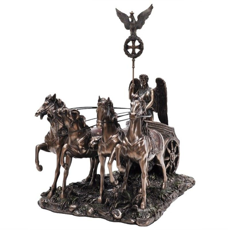 Cast Bronze Figurine of Brandenburg Gate Quadriga