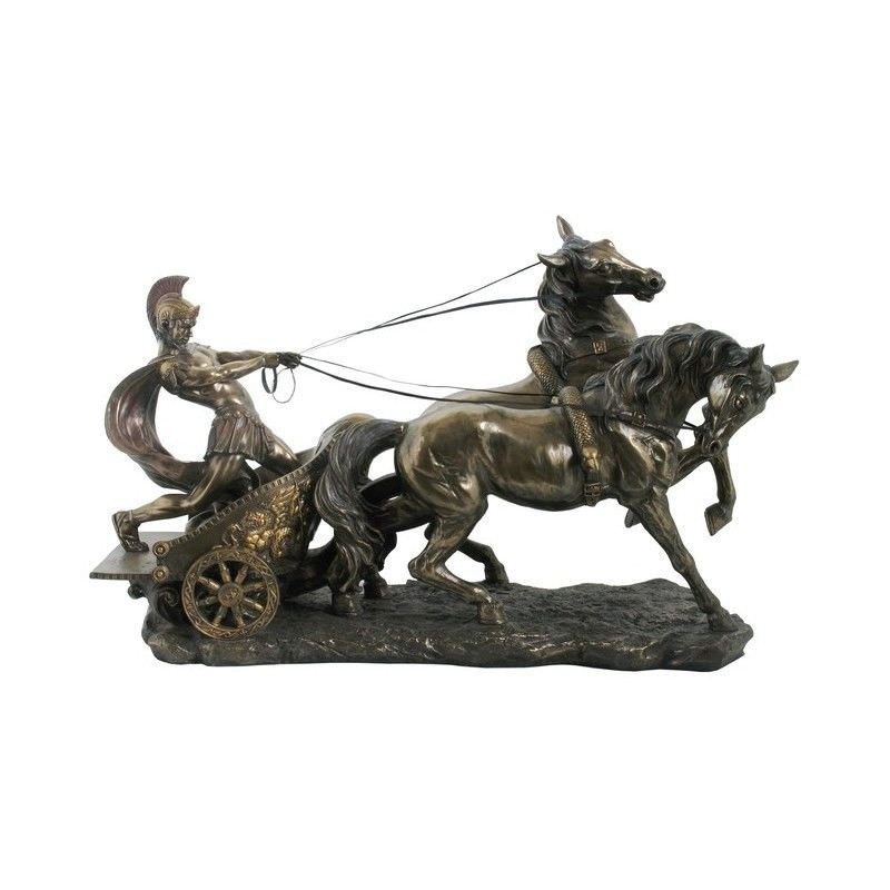 Cast Bronze Figurine of Roman Chariot, Small