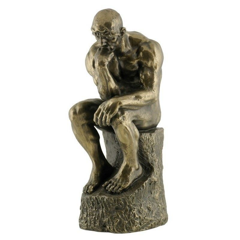 Cast Bronze Figurine of The Thinker, Small