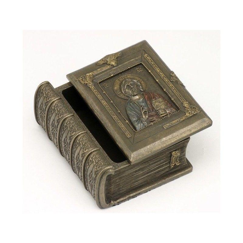 Cast Bronze Holy Bible Jewellery Box