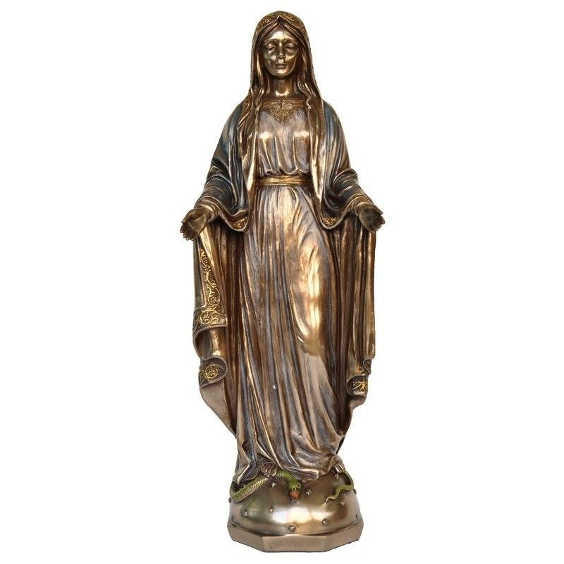 Cast Bronze Figurine of Mother Mary