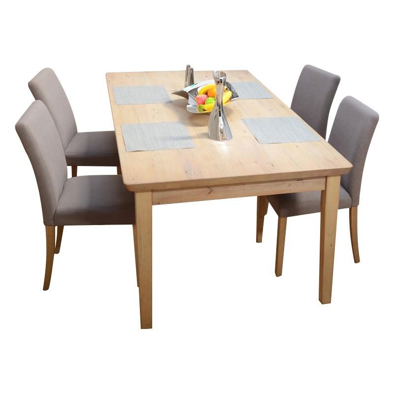 Girona 9 Piece Mountain Ash Timber Dining Table Set, 210cm