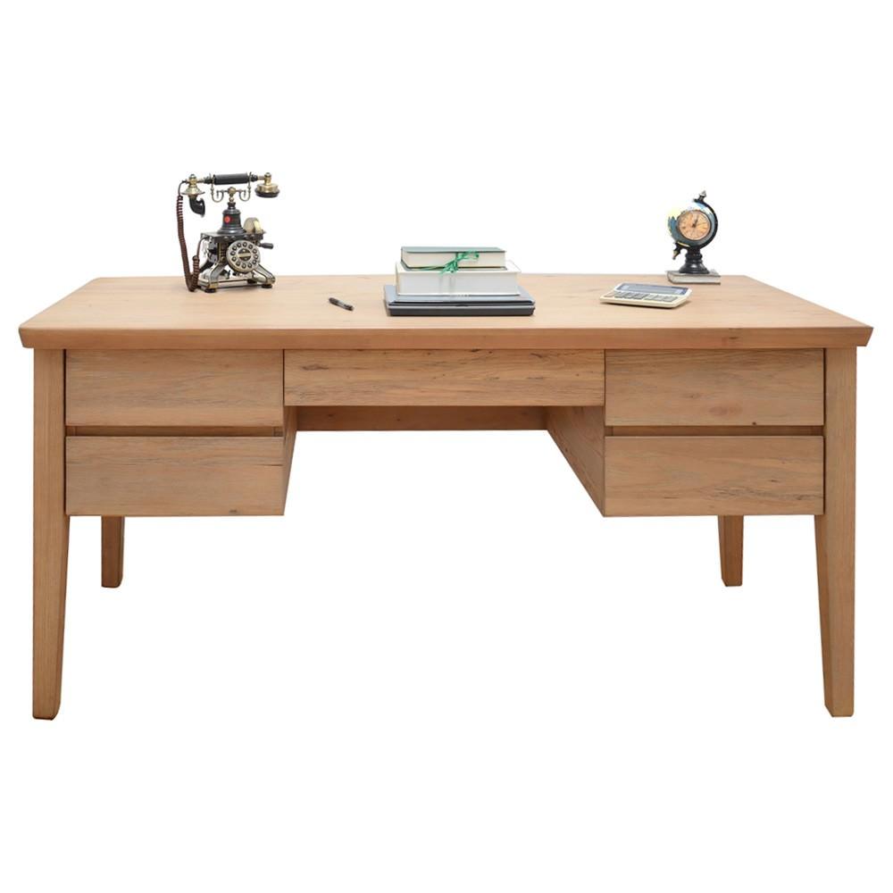 Girona Mountain Ash Timber Desk, 163cm