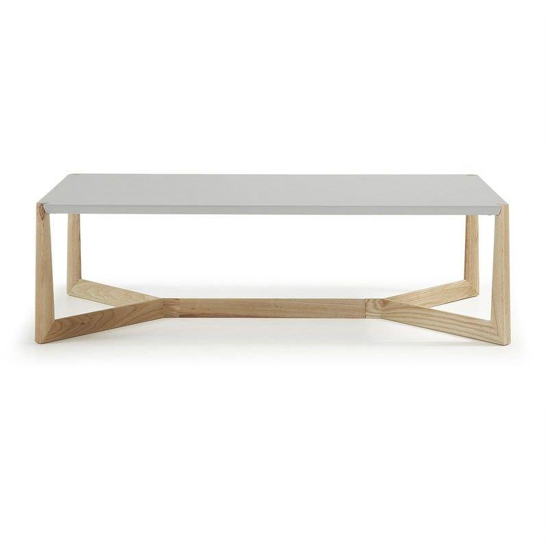 Amias 120cm Rectangular Coffee Table - Grey/Natural