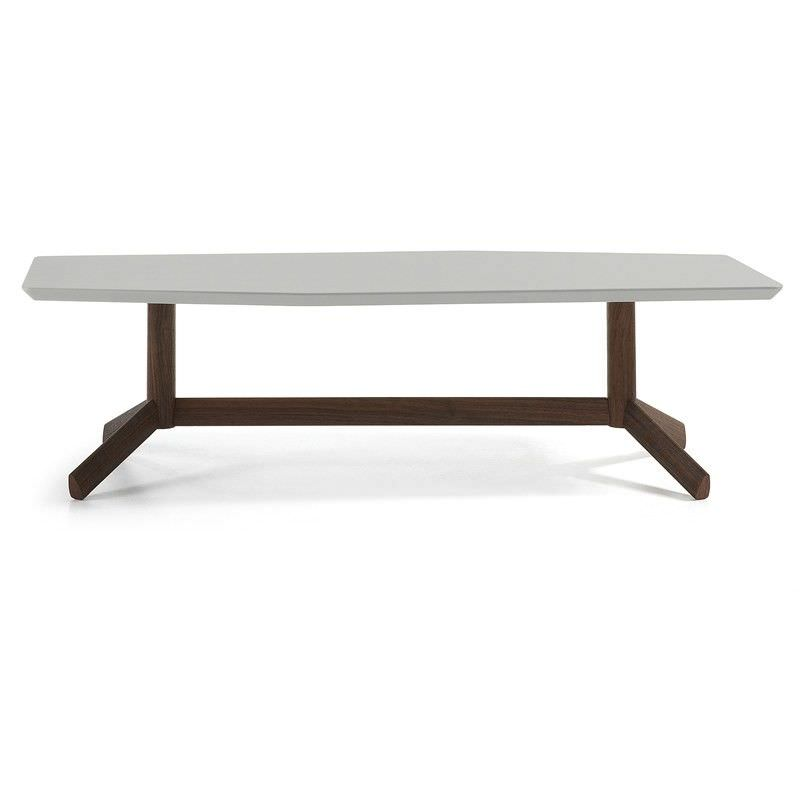 Amias 130cm Tripod Coffee Table - Grey/Walnut