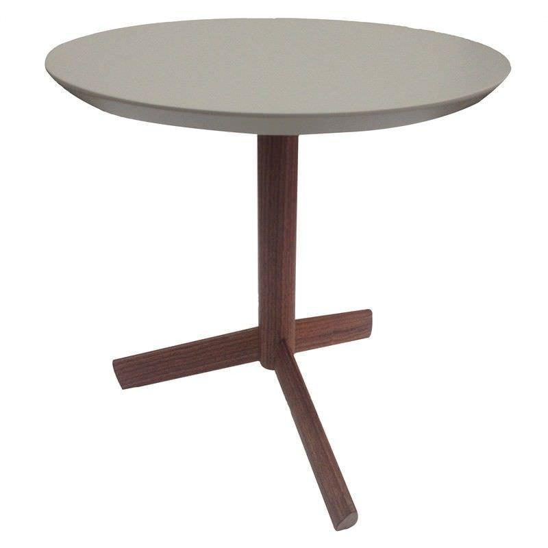 Amias Tripod Side Table,  Grey/Walnut