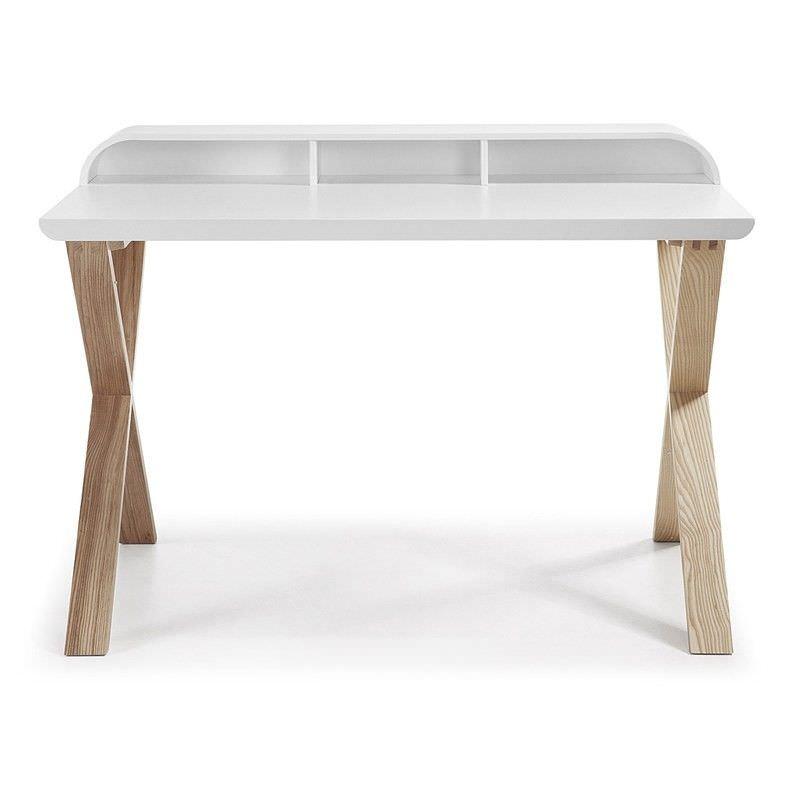 Amias 120cm Writing Desk -White/Natural