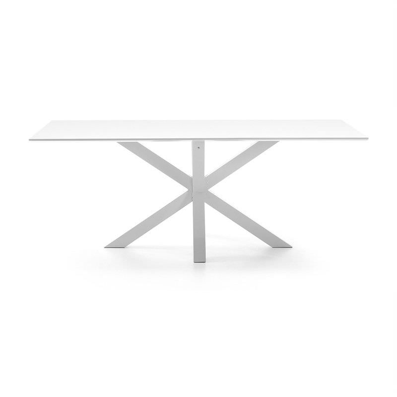Bromley Engineered Wood & Epoxy Steel Dining Table, 180cm, White