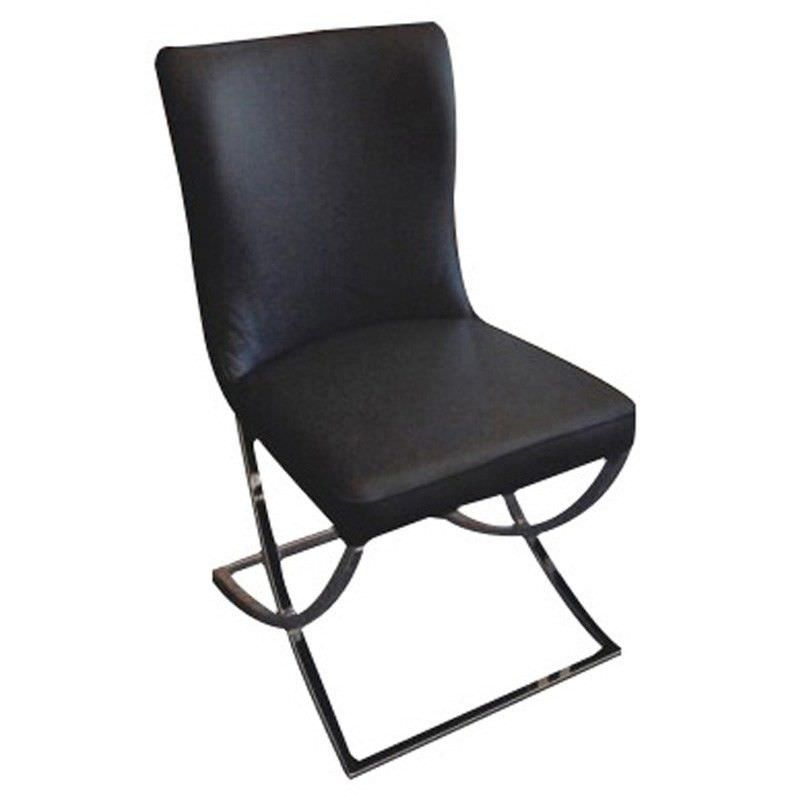 Peluca PU Leather Dining Chair - Black