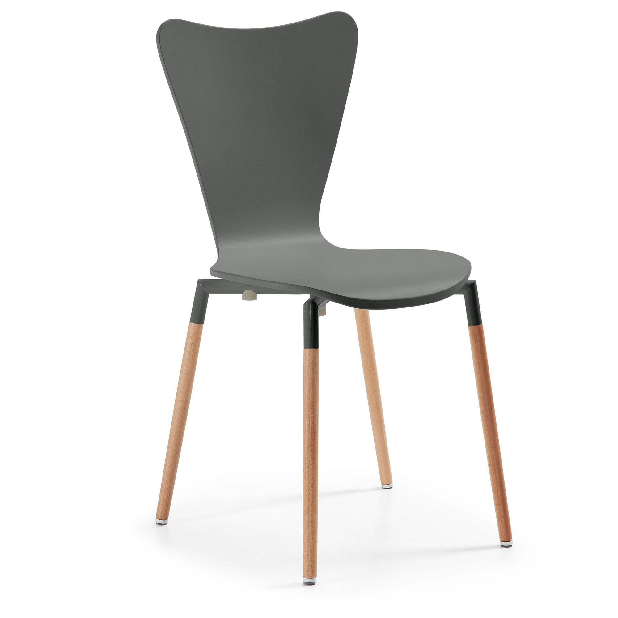 Ozana Timber Dining Chair, Grey