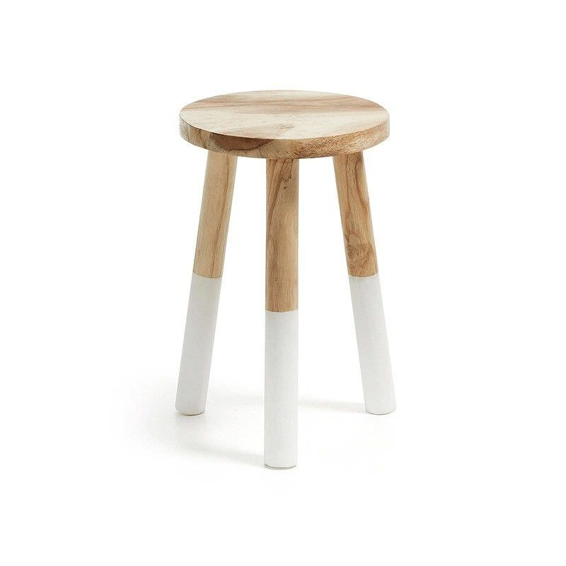 Smedley Solid Munggur Wood Timber Stool