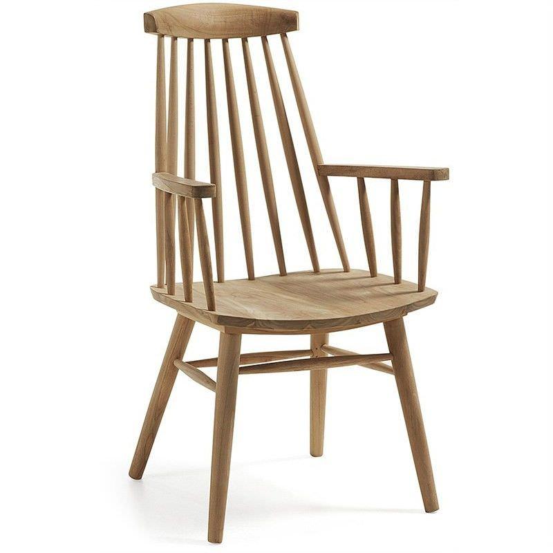 Penton Solid Teak Timber Armchair - Natural