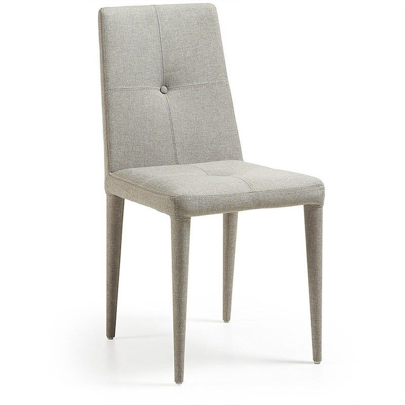 Leopold Fabric Dining Chairs - Light Grey