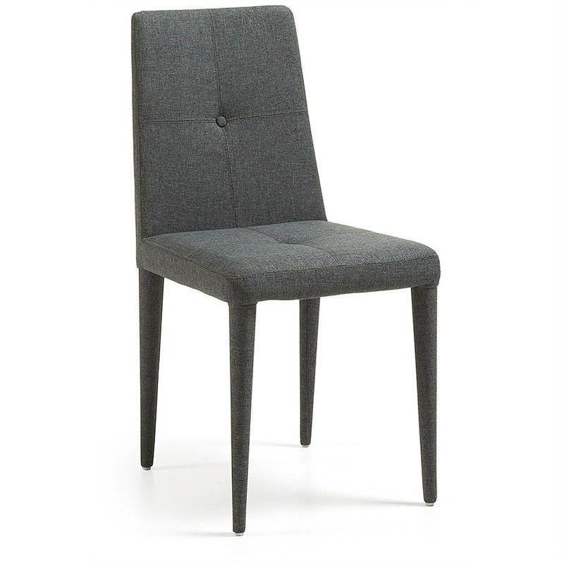Leopold Fabric Dining Chairs - Dark Grey
