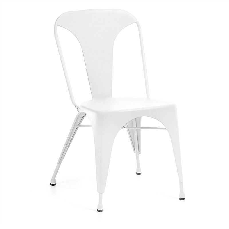 Frazier Steel Indoor/Outdoor Dinning Chair, White