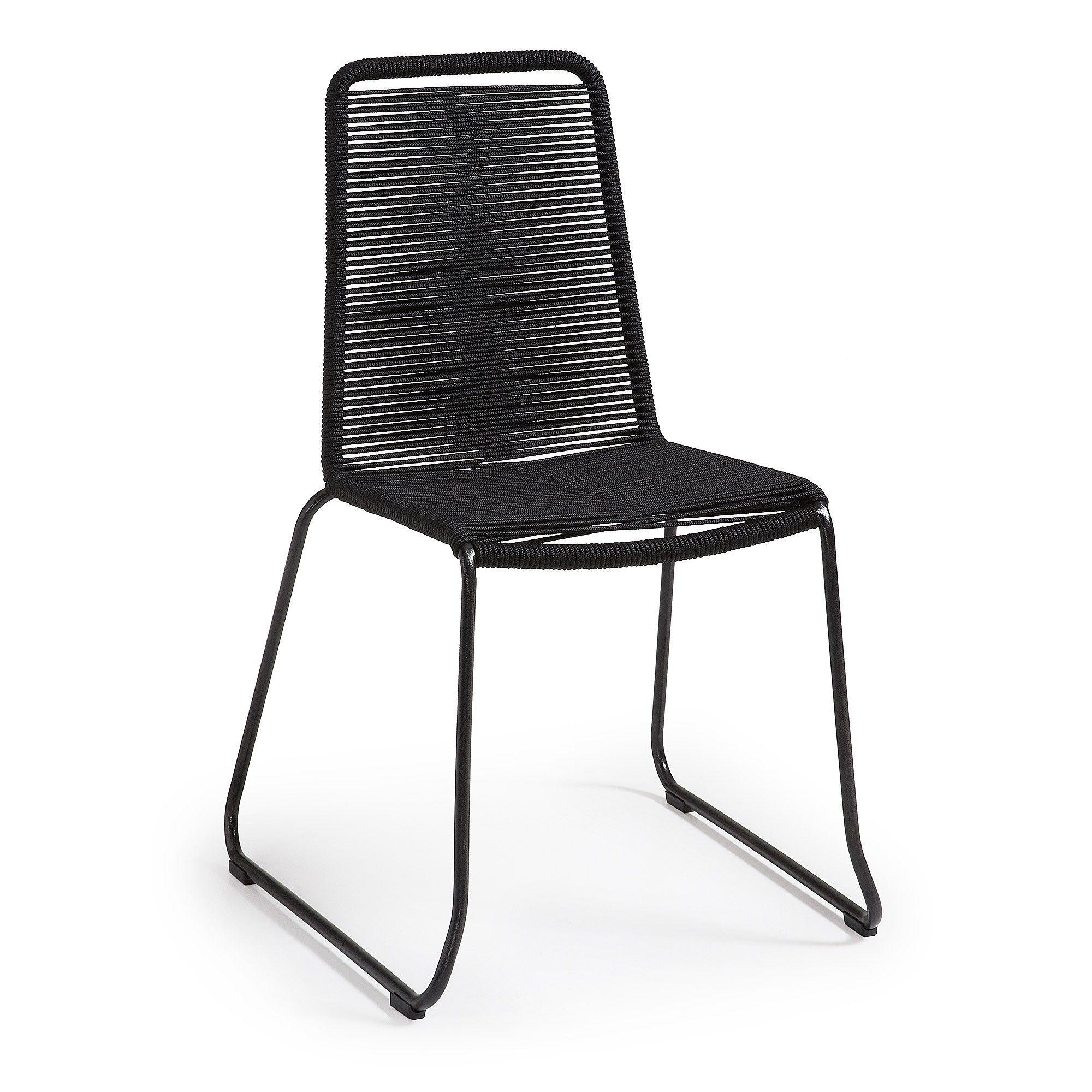 Balliol Stackable Indoor / Outdoor Dining Chair, Black