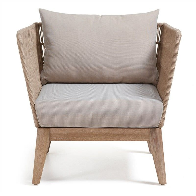 Bourne Rope & Acacia Timber Armchair