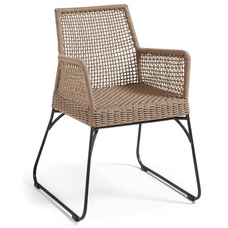 Burnett Indoor/Outdoor Dining Armchairs, Tan