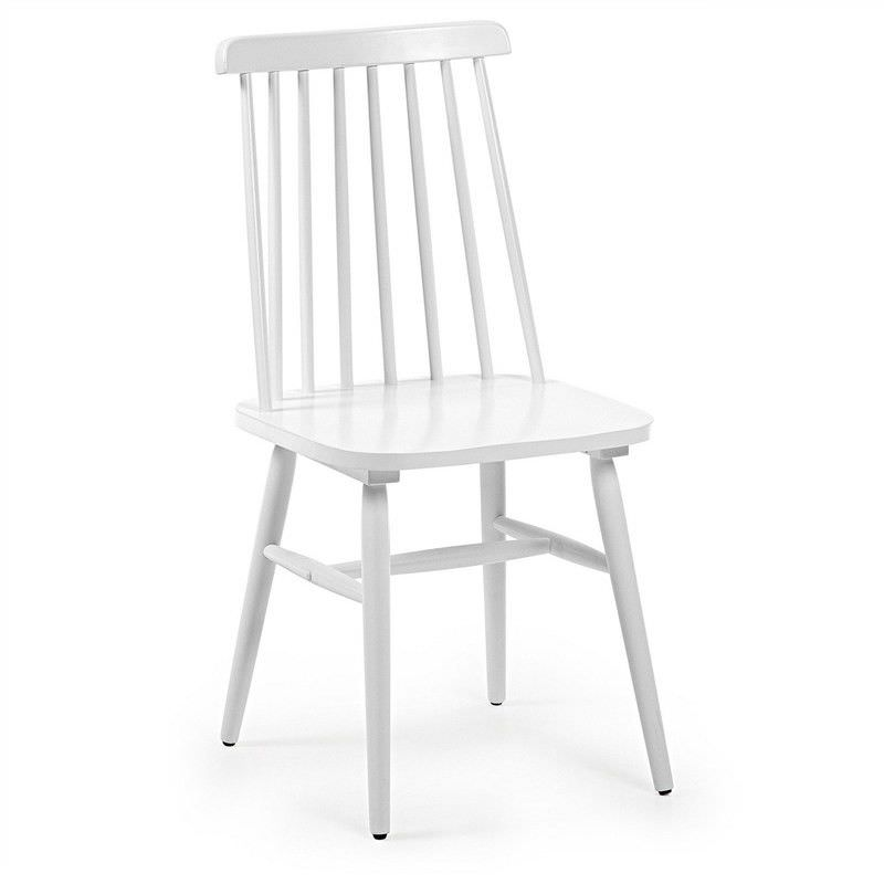 Tudor Solid Rubberwood Timber Dining Chairs, White