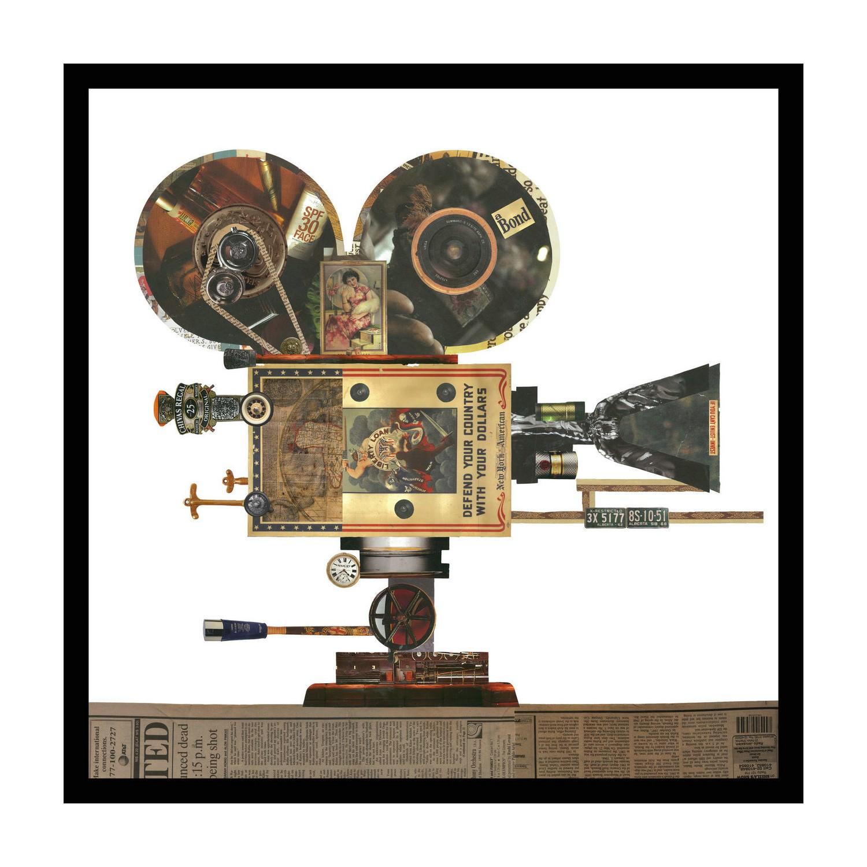 Merritt Framed Wall Art Print, Projector, 65cm, Black Frame