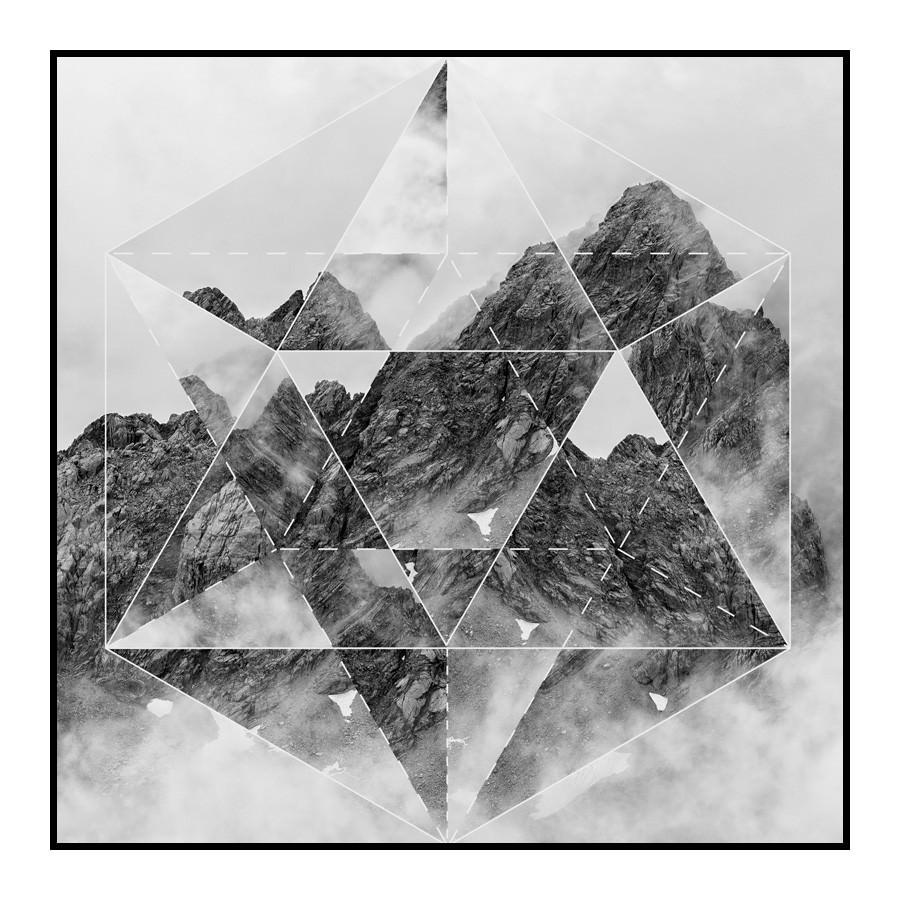 Prism Framed Wall Art Print, Mountain, 60cm