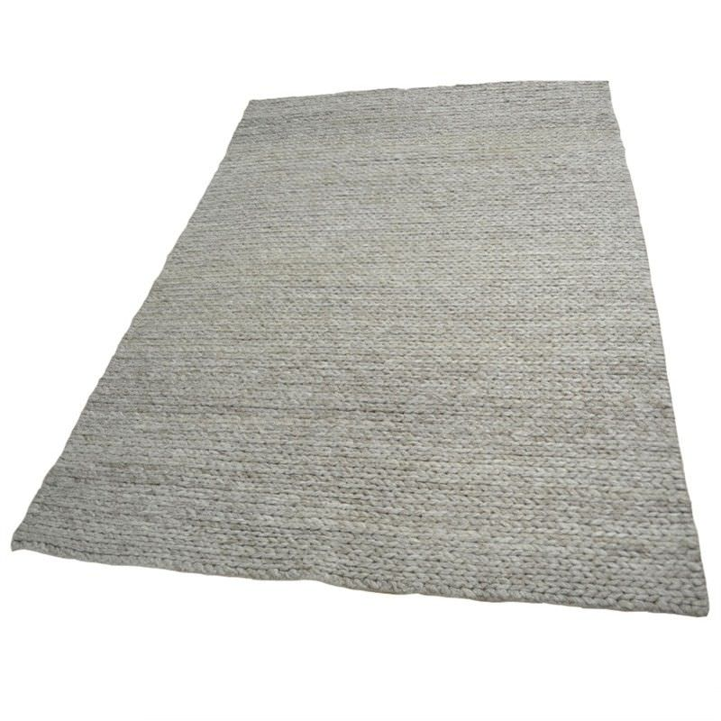 Cable Handmade 190x280cm Woollen Rug - Oatmeal